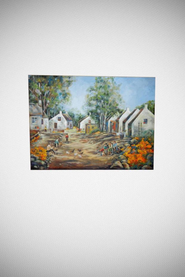 Farm Canvas Painting